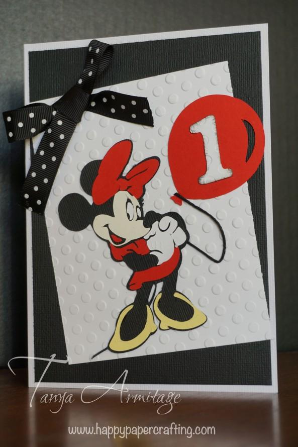 Minnie Mouse cricut card