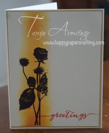 Sponged thank you card
