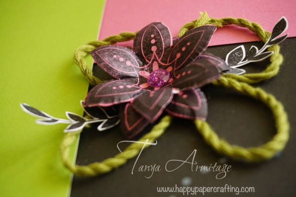 layered embossed flower close up CTMH
