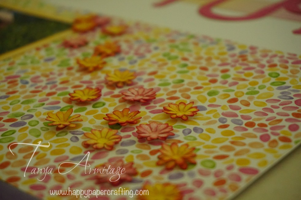 Sponged embossed flowers