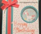 Peek-A- Boo card using CTMH little dreamer paper packet