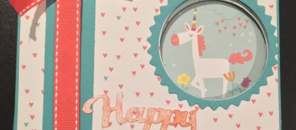 Peek-A- Boo card using CTMH little dreamer paper packet